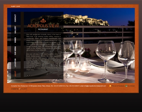Dproject for Acropolis cuisine
